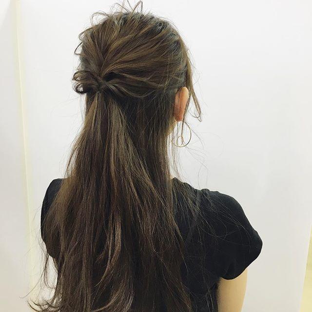 入園式におすすめのママの髪型《ロング》3