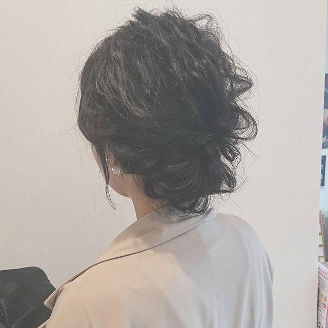 ママ向け!入学式の髪型《ミディアム×波ウェーブ》4