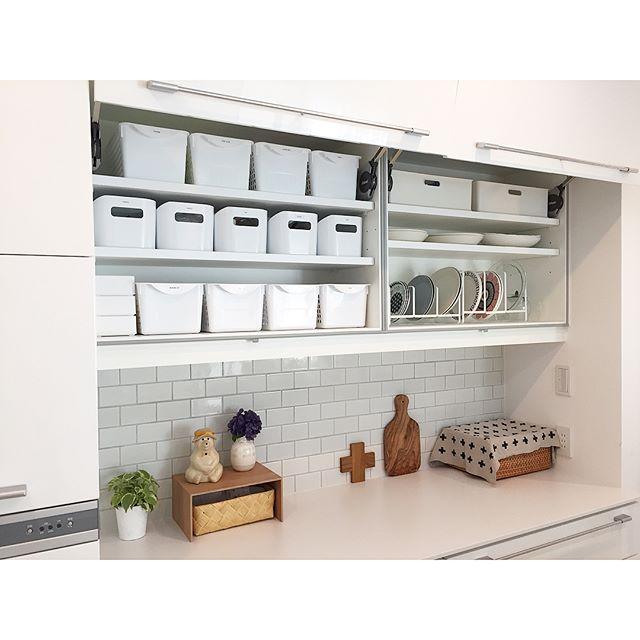 キッチンの壁面収納で北欧スタイル
