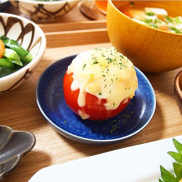 さっぱり付け合わせ!トマトおからのチーズ焼き