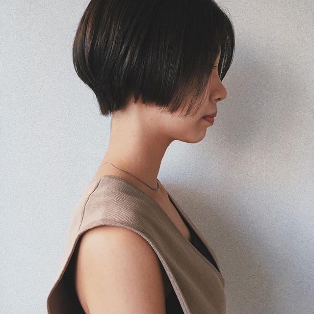 入園式の髪型《ショート×前髪なし》