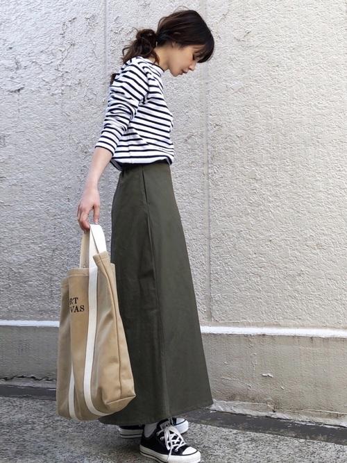 【大阪】4月に最適な服装:スカートコーデ8