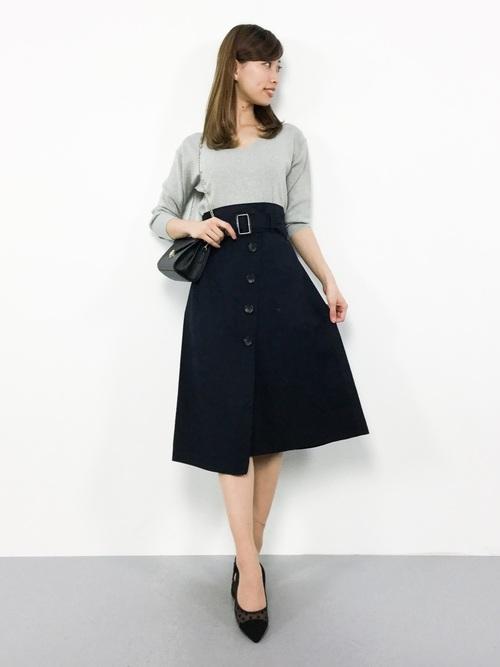 ネイビースカート6