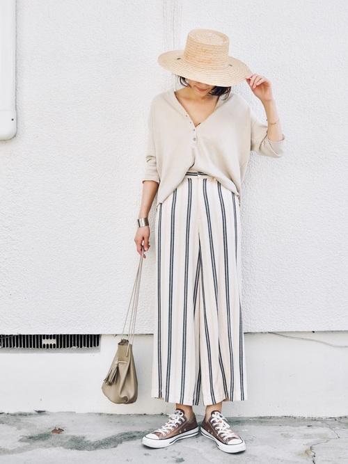 【沖縄】4月に最適な服装:パンツコーデ3