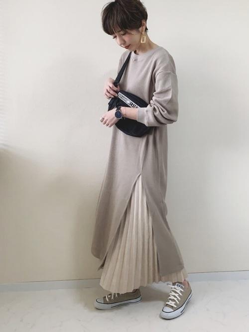 2[CORNERS] フェイクスエードプリーツロングスカート