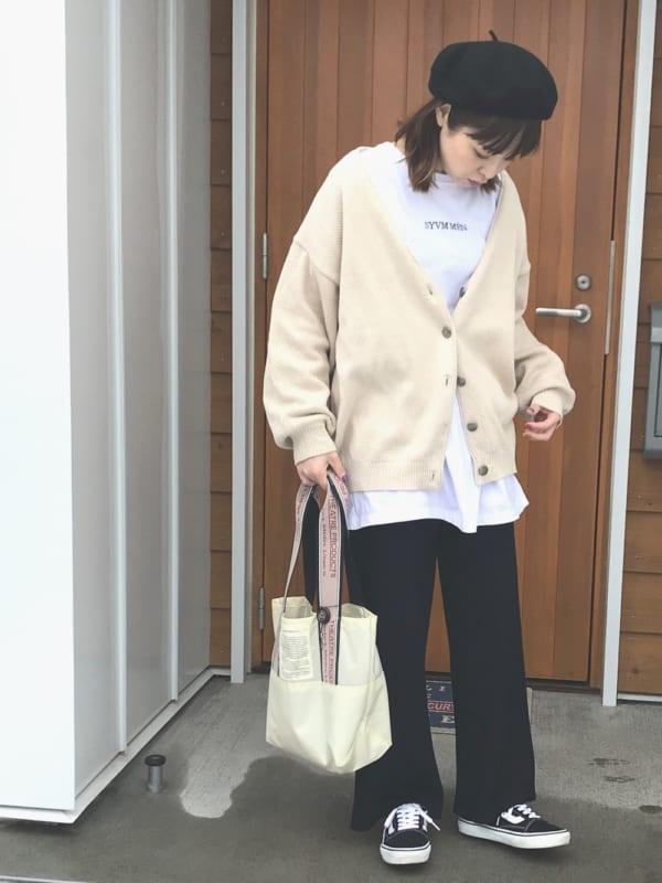 [Auntie Rosa] 【Holiday】リブニットパンツ