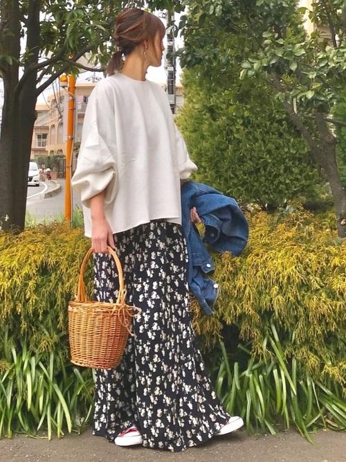 [coca] シックカラー花柄カシュクールワンピース