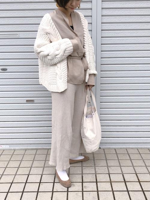 [Auntie Rosa] 【Holiday】リブニットパンツ3
