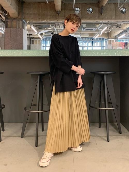 [koe] ロングプリーツスカート