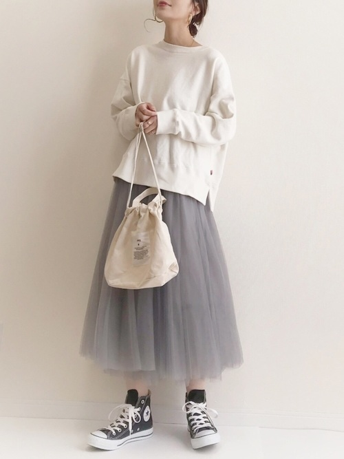 [YARD PLUS/AUNT MARIE'S] 【ZOZOTOWN限定!】AUNT MARIE'S チュールロングスカート