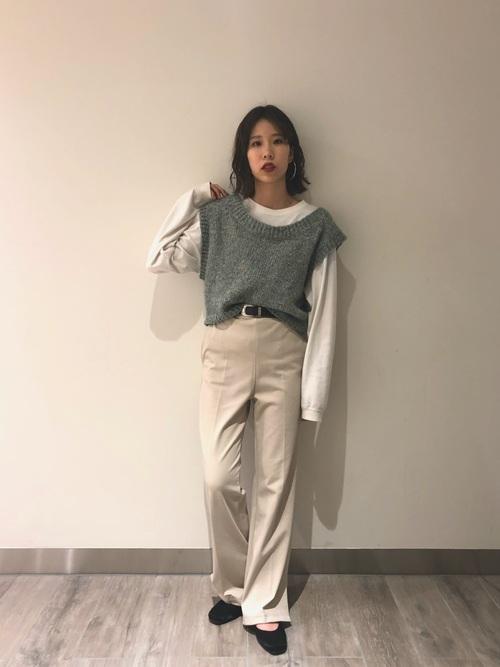 【大阪】4月に最適な服装:パンツコーデ6