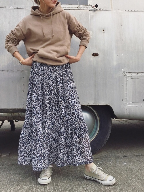 レオパード柄で作る女子ウケパーカーコーデ