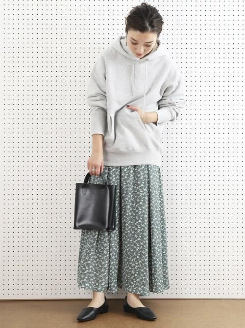 [FREAK'S STORE] 【WEB限定】フラワープリントフレアギャザースカート