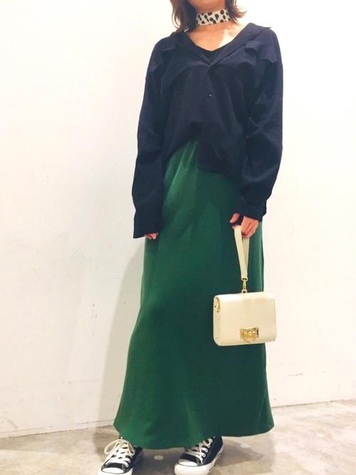 [koe] テレコカットスカート