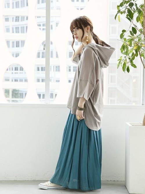 [osharewalker] 『ふわさらロングスカート【ロング丈】』