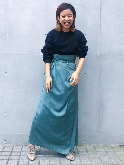 [UNITED TOKYO] フリットラップスカート
