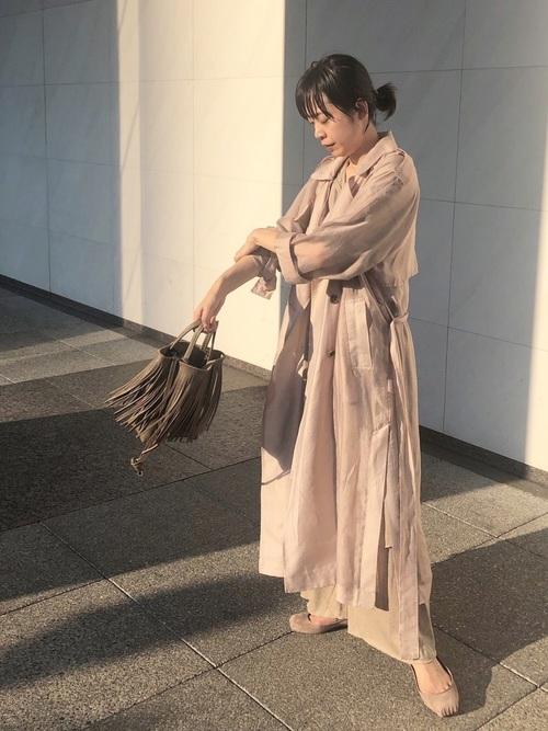 [ETRE TOKYO] シースルートレンチコート