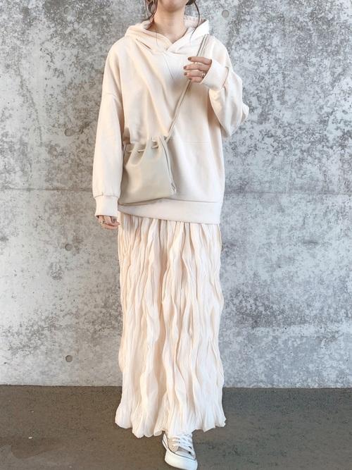 [Re:EDIT] クリンクル加工カラーロングスカート
