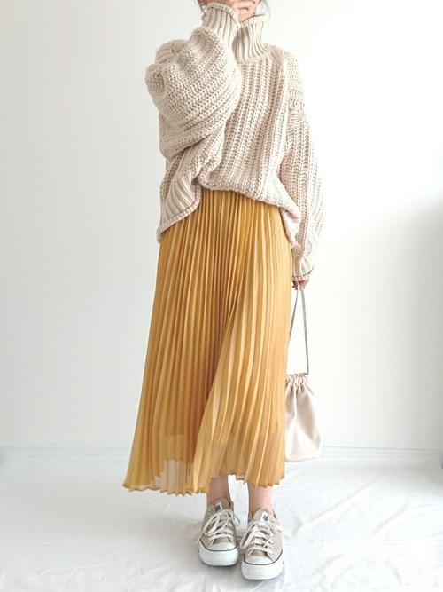 [MAJESTIC LEGON] シャイニープリーツスカート