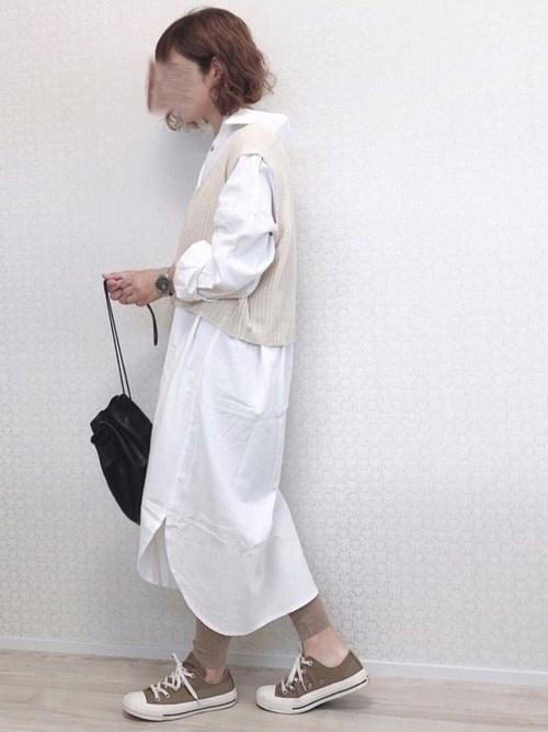【北海道】4月に最適な服装:ワンピースコーデ3