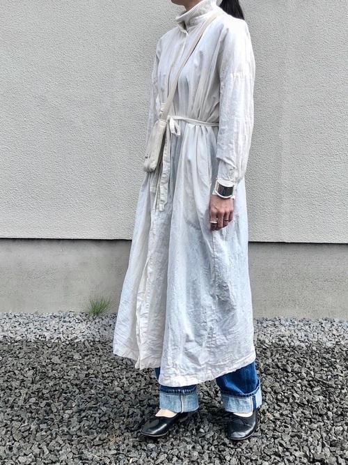 [merlot] リネンシャツワンピース1319