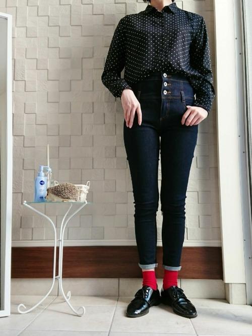【大阪】4月に最適な服装:パンツコーデ3