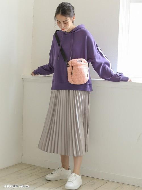 [Honeys] サテンプリーツスカート