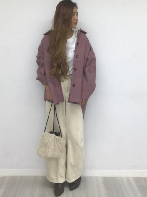[CHILLE] リボン付オーバーサイズCPOジャケット