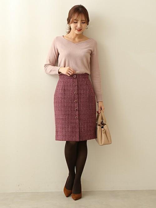 [PROPORTION BODY DRESSING] ミックスツイードタイトスカート
