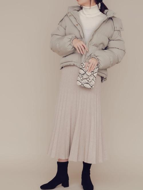 [YARD PLUS/AUNT MARIE'S] AUNT MARIE'S ニットプリーツスカート3