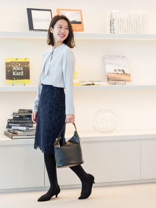 [NATURAL BEAUTY BASIC] モールレースタイトスカート