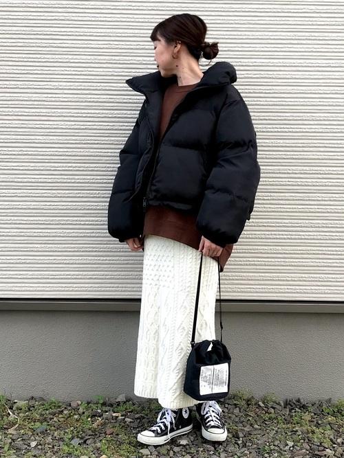 [Auntie Rosa] Libra ドロップショルダーショートダウンジャケット