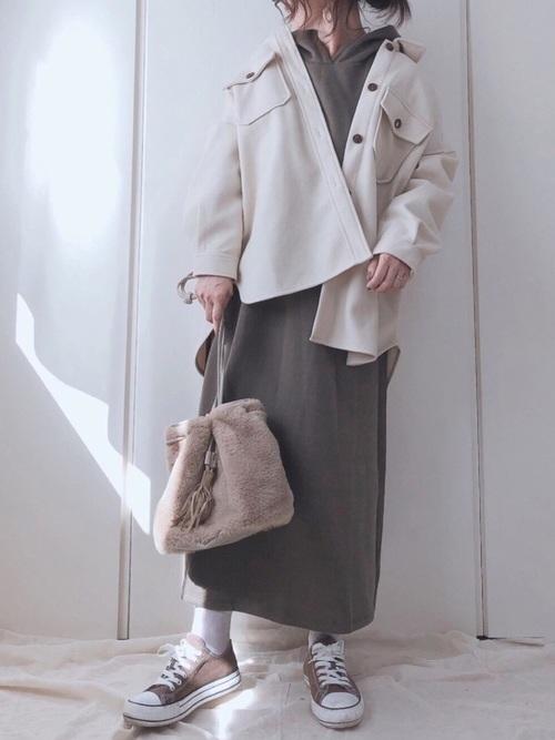 [YARD PLUS/AUNT MARIE'S] AUNT MARIE'S メルトンCPOシャツジャケット