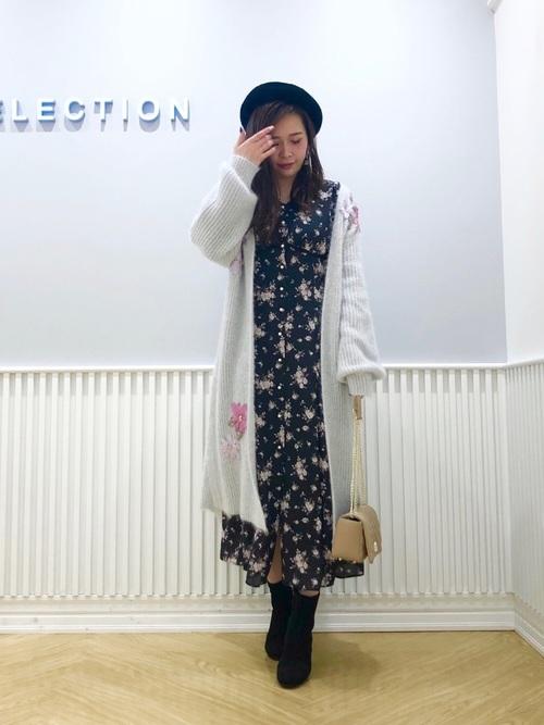 14[WILLSELECTION] シャイニーフェザー刺繍ローブ