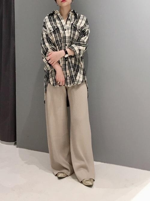 [CRAFT STANDARD BOUTIQUE] 厚手WポケットチェックBIGシャツ〇