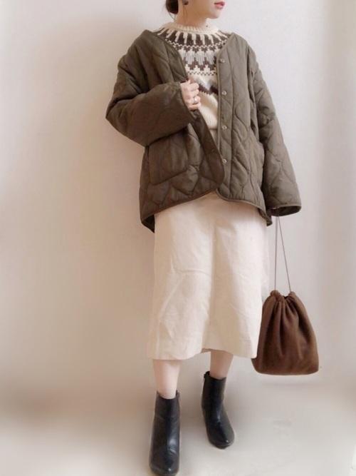 GUのフェアアイル・ノルディックセーターコーデ集6