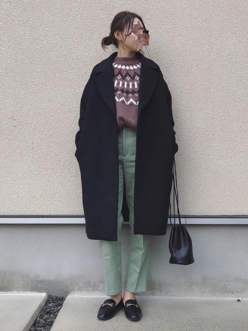 GUのフェアアイル・ノルディックセーターコーデ集4