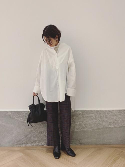 [Omekashi] ロングBIGシャツ