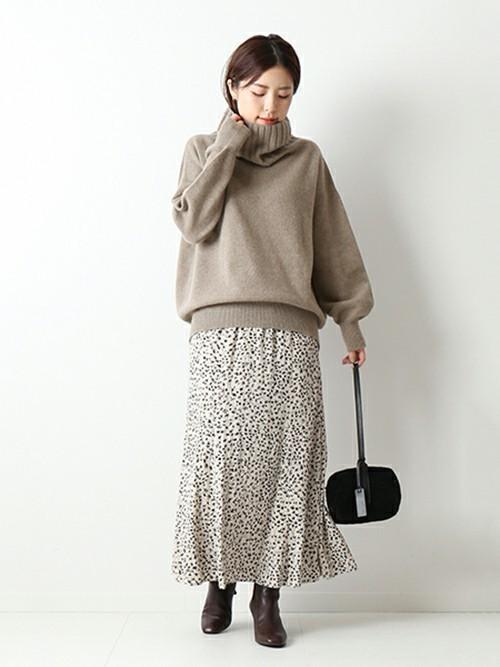 [Spick & Span] フラワープリントフレアスカート2◆