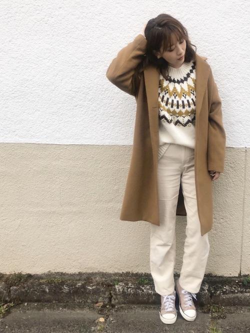 GUのフェアアイル・ノルディックセーターコーデ集8