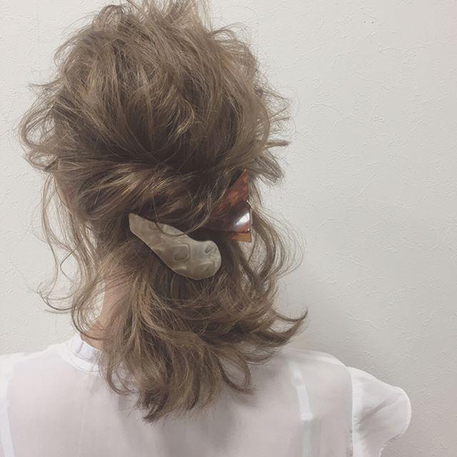 ママ向け!入学式の髪型《ミディアム×ハーフアップ》4
