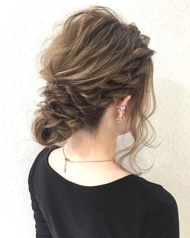 ママ向け!入学式の髪型《ミディアム×まとめ髪》2