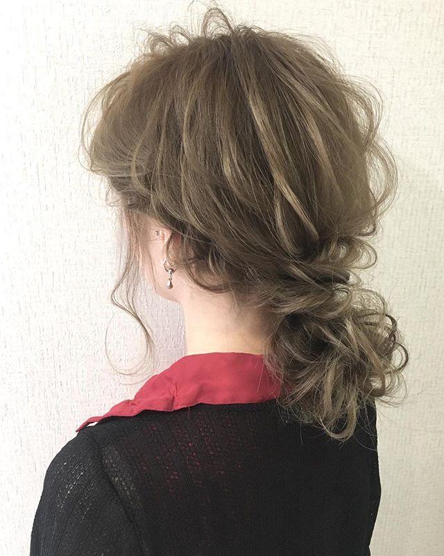 ママ向け!入学式の髪型《ミディアム×波ウェーブ》
