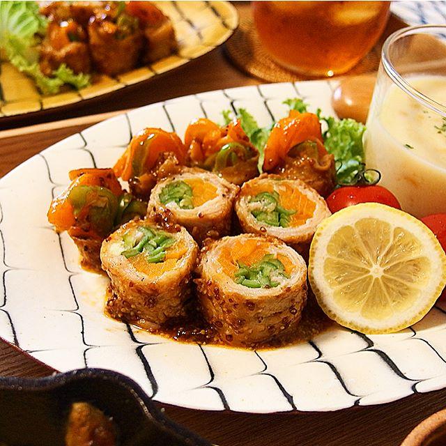 豚バラのお弁当レシピ《肉巻き》