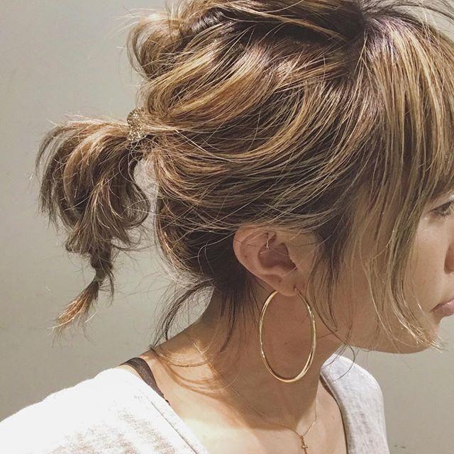 お花見におすすめの髪型《ボブヘアアレンジ》2