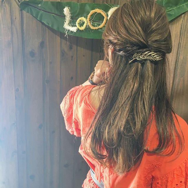 お花見におすすめの髪型《ロングヘアアレンジ》