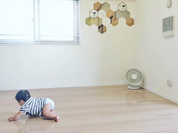 風通しのよいミニマリストの子供部屋