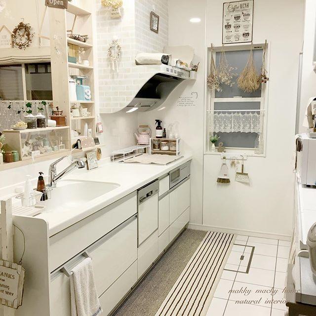 台所の雰囲気に合う可愛いコーディネート