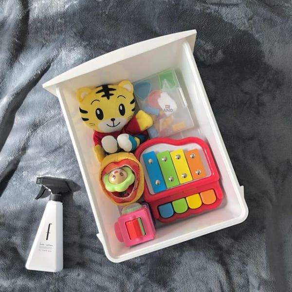 ミニマリストは分かりやすくおもちゃを収納