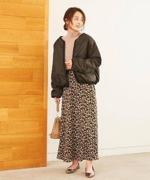 【軽井沢】4月に最適な服装:スカートコーデ4